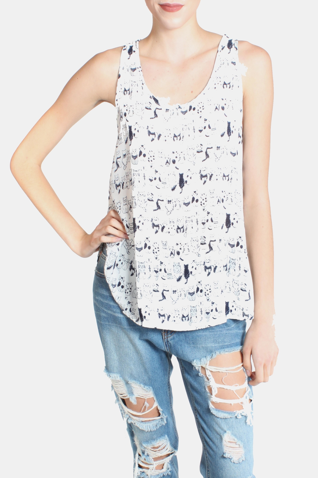 Le Lis Cats Meow Tank Top - Main Image
