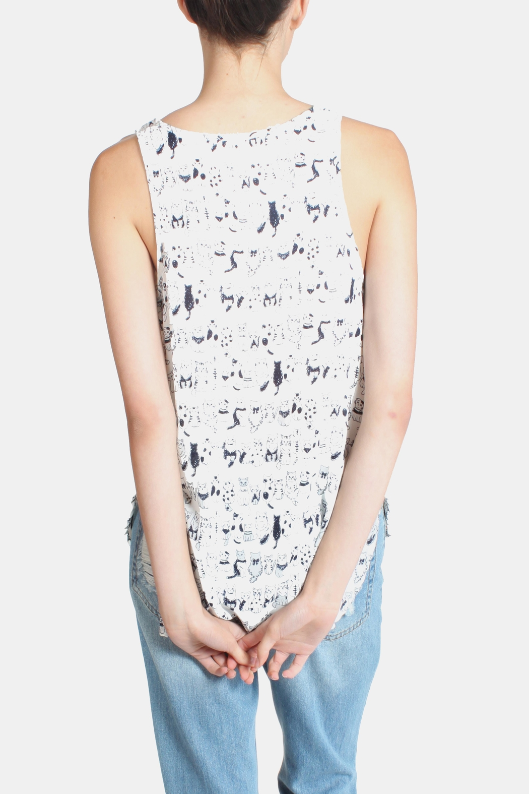 Le Lis Cats Meow Tank Top - Side Cropped Image