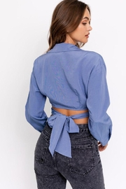 Le Lis Tie Detail Shirt Top - Front full body