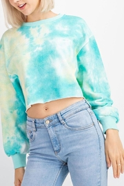 Le Lis Tie-Dye Cropped Sweater - Back cropped