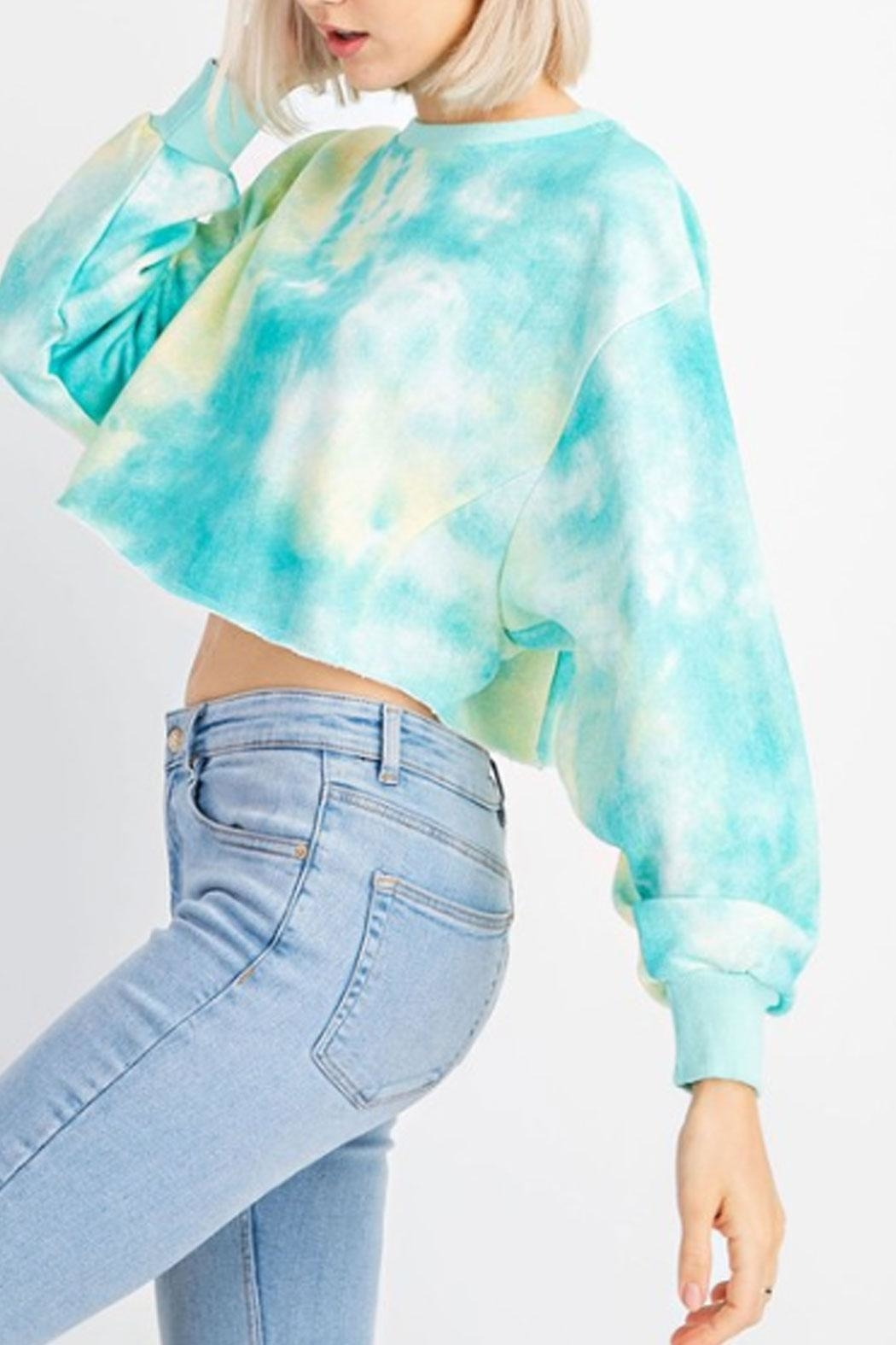 Le Lis Tie-Dye Cropped Sweater - Main Image