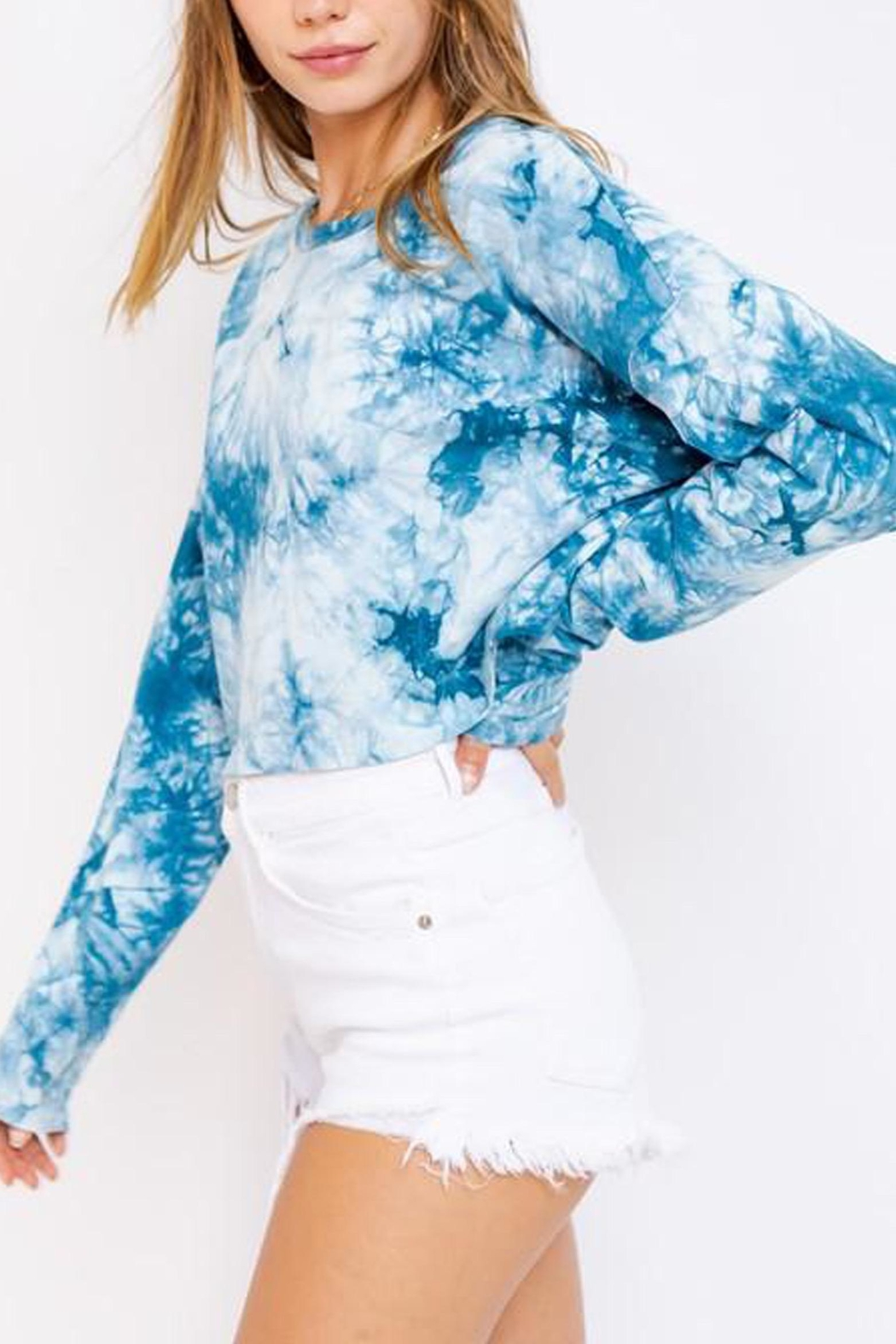 Le Lis Tie-Dye Oversized Crop-Top - Front Full Image