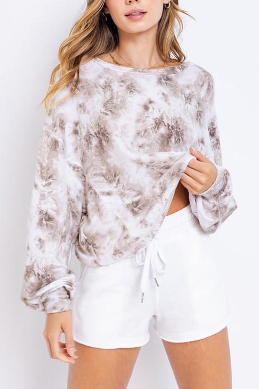 Le Lis Tie-Dye Oversized Pullover - Main Image