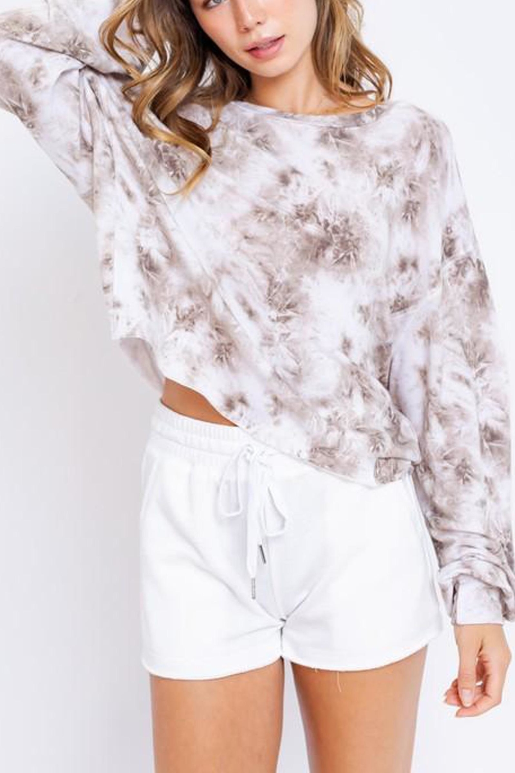 Le Lis Tie-Dye Oversized Pullover - Front Full Image