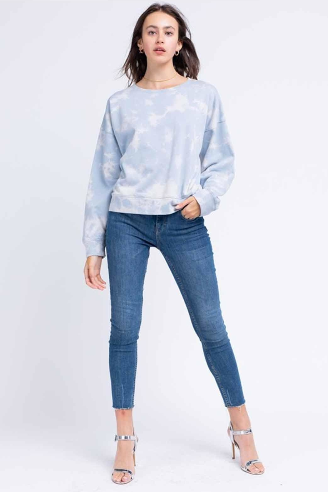 Le Lis Tie-Dye Pullover - Back Cropped Image