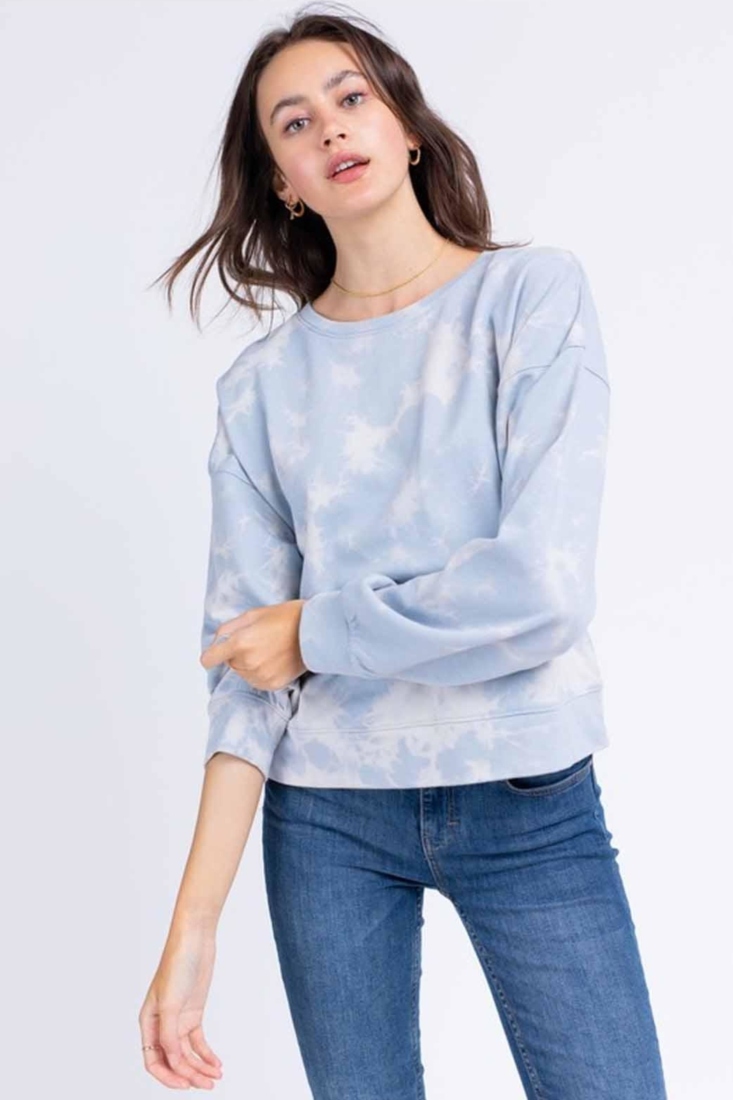 Le Lis Tie-Dye Pullover - Side Cropped Image