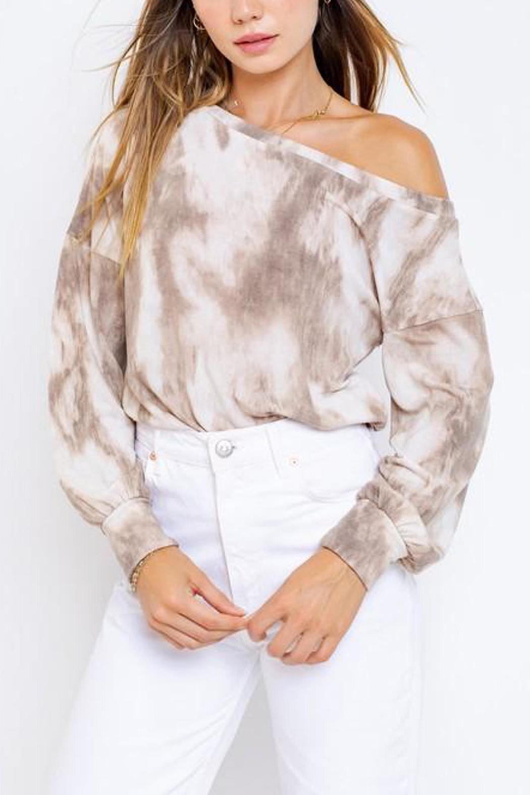 Le Lis Tie-Dye Slouchy Pullover - Main Image