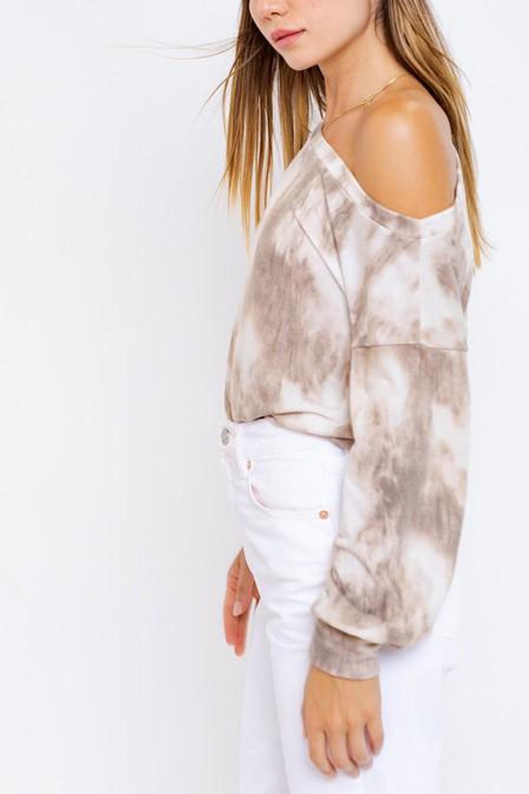 Le Lis Tie-Dye Slouchy Pullover - Back Cropped Image