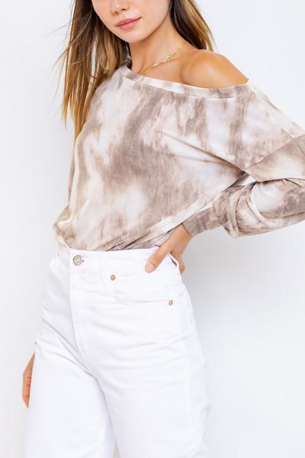Le Lis Tie-Dye Slouchy Pullover - Front Full Image