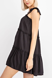 Le Lis Tiered Black Dress - Back cropped