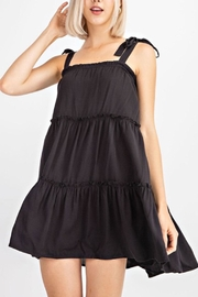 Le Lis Tiered Black Dress - Front cropped