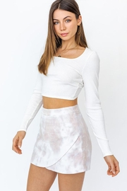 Le Lis Twist Back Crop-Top - Front full body