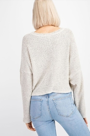 Le Lis V-Neck Sweater Top - Back cropped