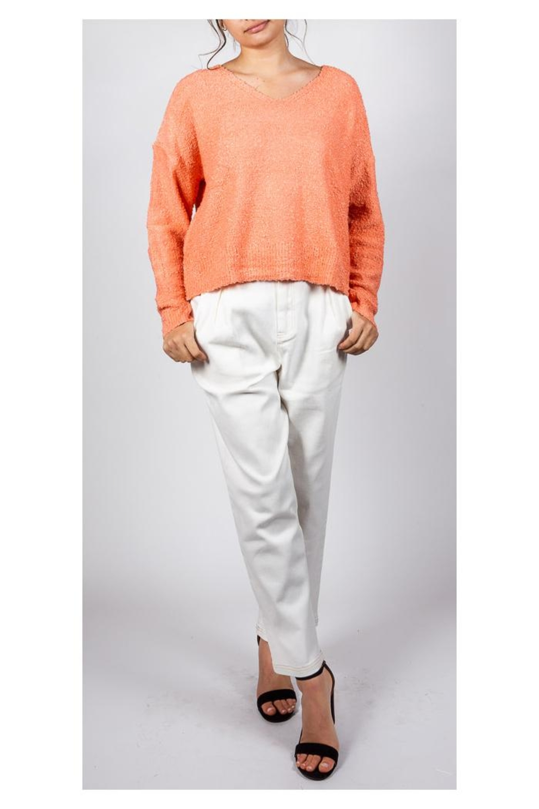 Le Lis White Canvas Trousers - Front Cropped Image