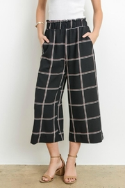 Le Lis Window Pane Culottes - Front cropped