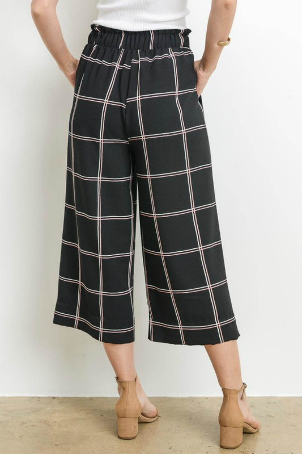 Le Lis Window Pane Culottes - Side Cropped Image