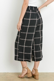 Le Lis Window Pane Culottes - Front full body