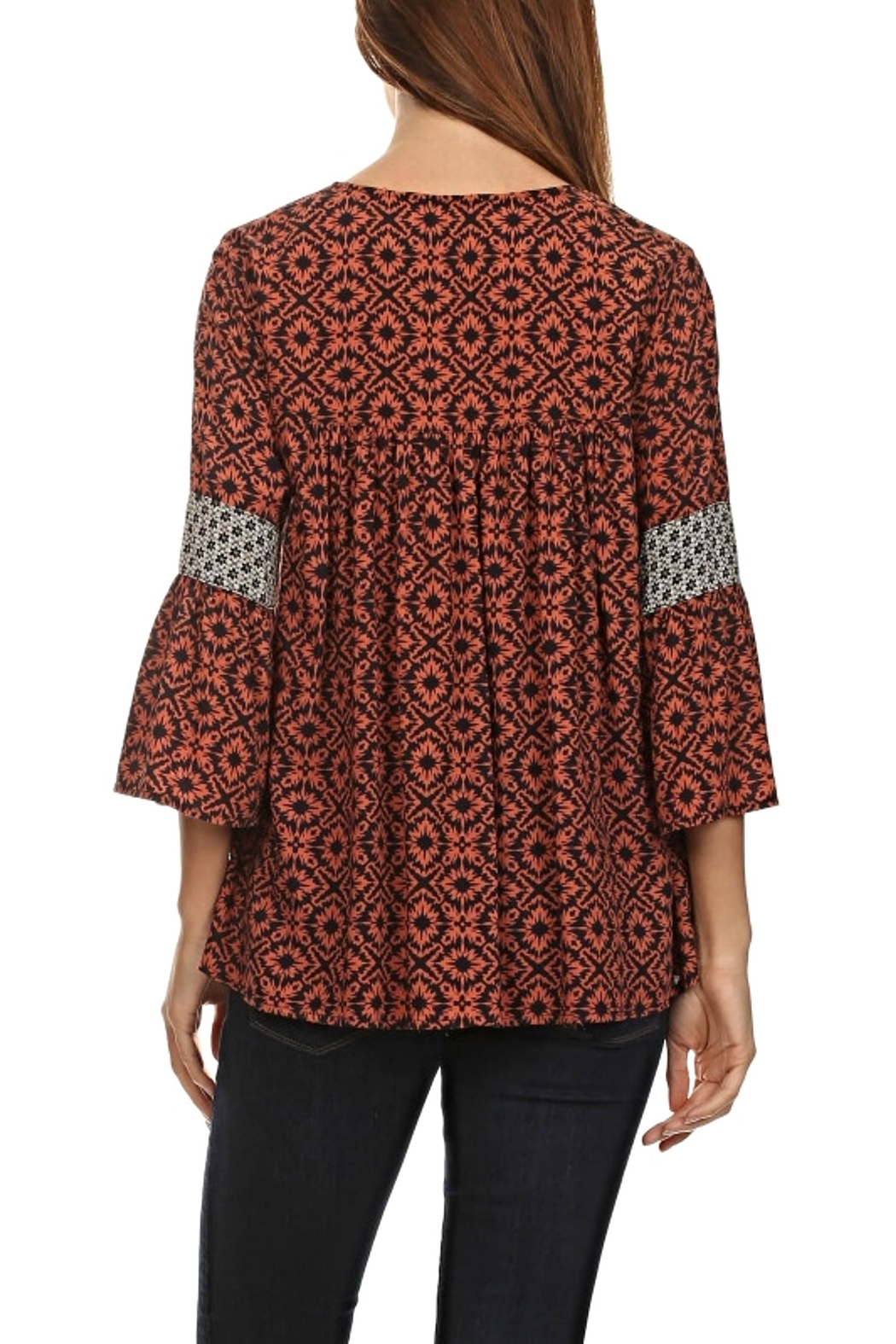 LE SAMPLE Fall Pattern Blouse - Front Full Image