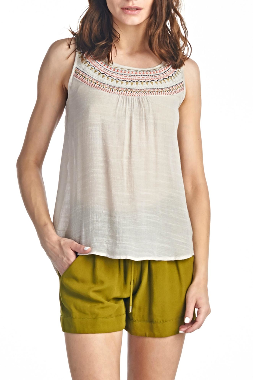 LE SAMPLE Sleeveless Crochet Top - Main Image