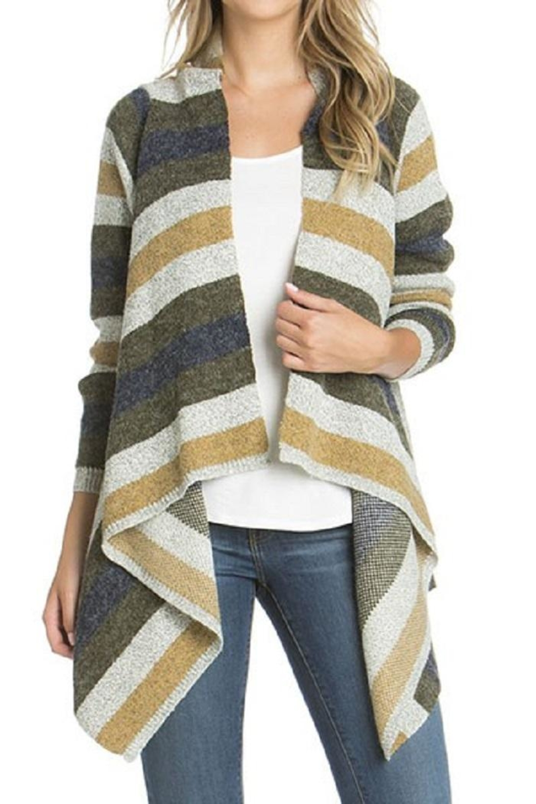 Le Shop Striped Waterfall Cardigan from New York City by Dor L'Dor ...
