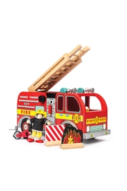 Le Toy Van Wooden Fire Engine - Product Mini Image