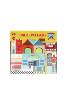 Shoptiques Product: Wooden Town Blocks