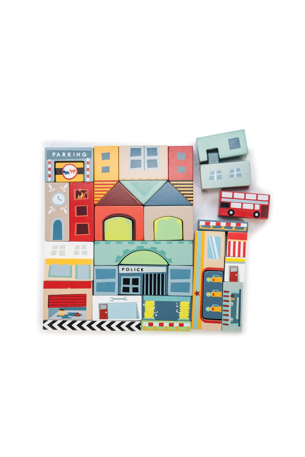 Le Toy Van Wooden Town Blocks - Front Full Image