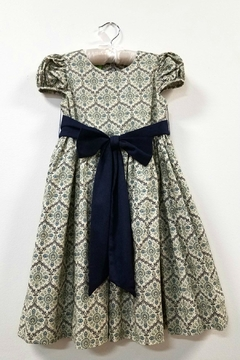 Le Za Me Navy Medallion Sash Dress - Product List Image