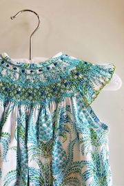 Le Za Me Pineapple-Print-Aqua-Blue-Smocked-Bubble - Side cropped