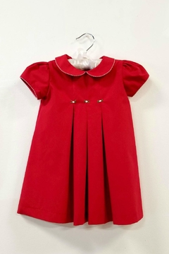 Le Za Me Red Pleated Dress - Product List Image