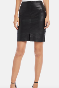 Shoptiques Product: Lea Contrast Leather Skirt