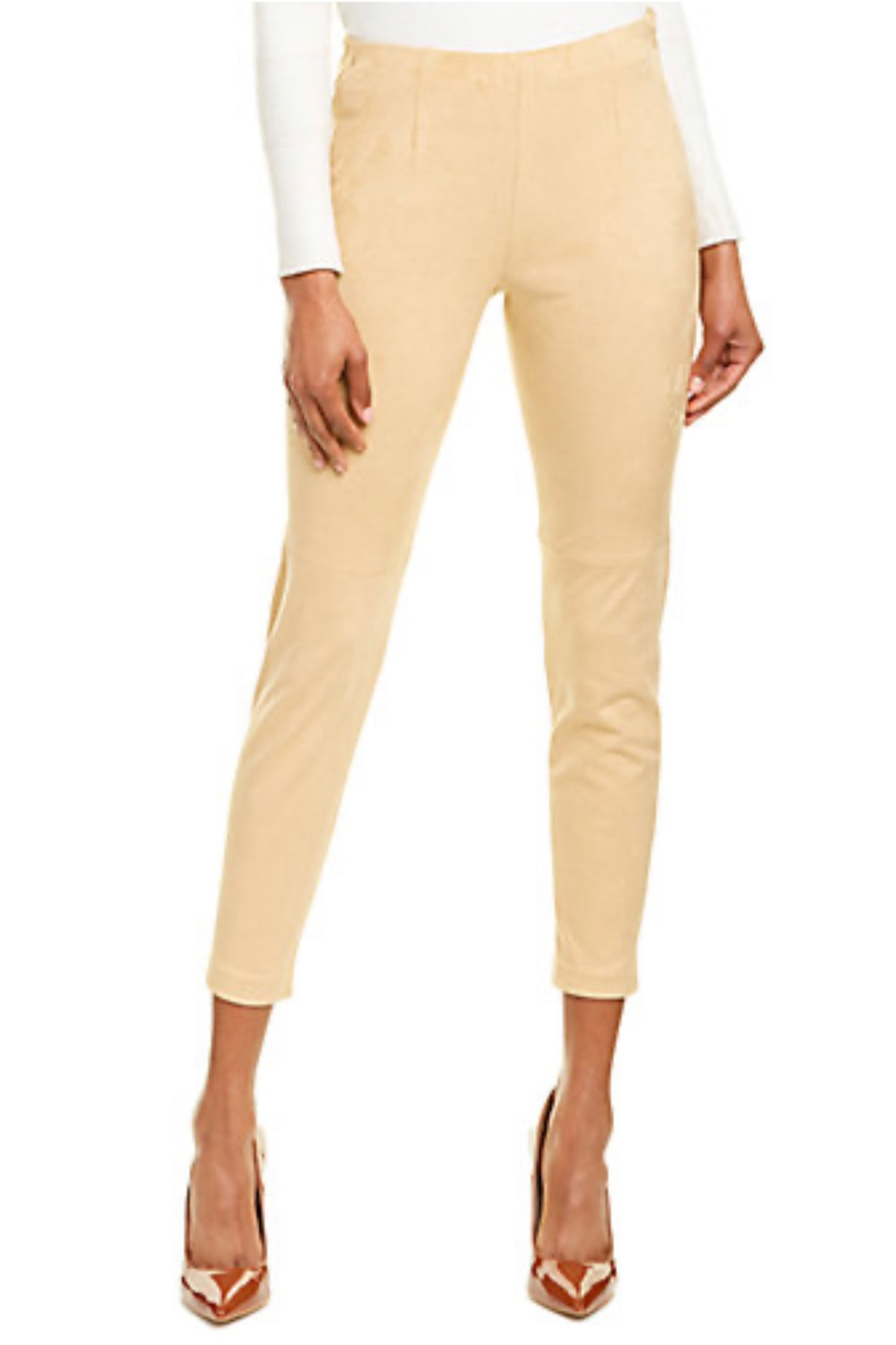 Tyler Boe Lea Faux Suede Pant - Front Cropped Image