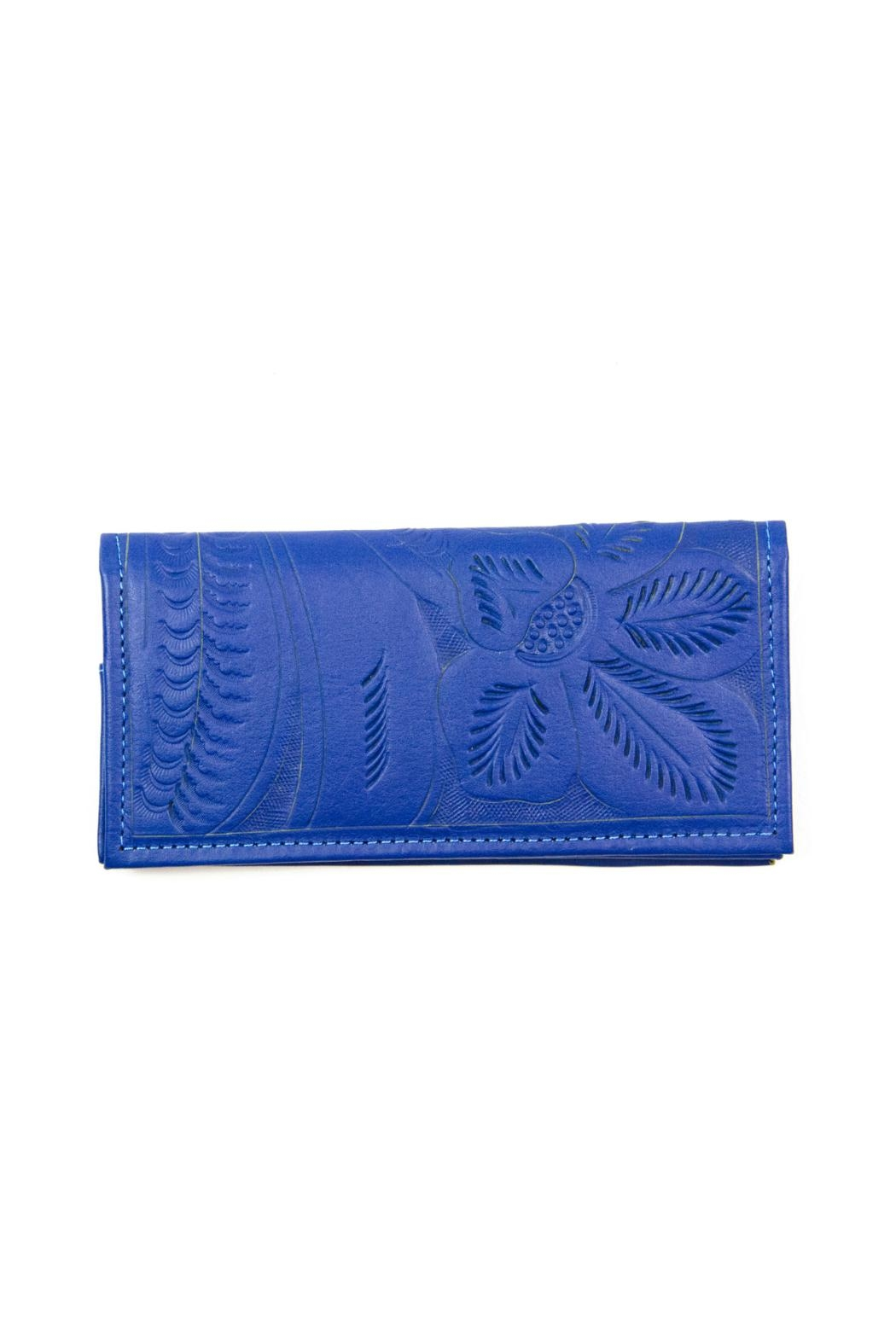 Leaders in Leather Leather Checkbook Wallet - Front Cropped Image