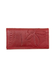 Leaders in Leather Leather Checkbook Wallet - Front cropped