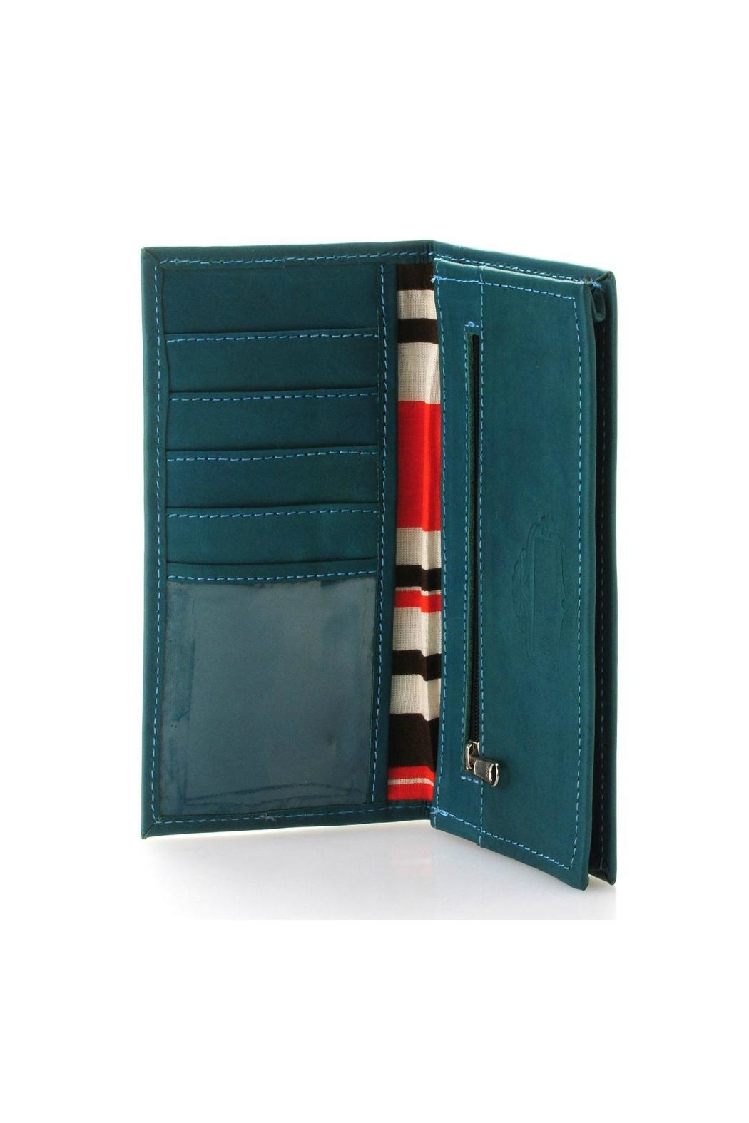 Leaders in Leather Leather Checkbook Wallet - Side Cropped Image