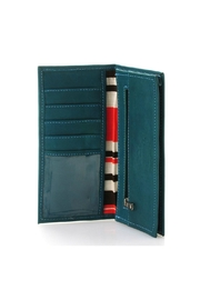 Leaders in Leather Leather Checkbook Wallet - Side cropped