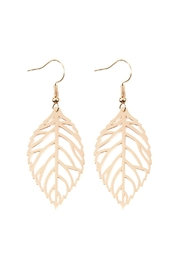Riah Fashion Leaf-Cast Hook-Earrings - Product Mini Image