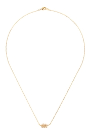 Riah Fashion Leaf Crystal-Pave-Necklace - Product Mini Image