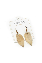 Gift Craft Leaf Earrings - Front cropped