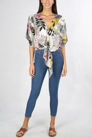 Lovestitch Leaf Kimono-Sleeve Top - Product Mini Image