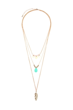 Shoptiques Product: Leaf-Multi Pendent-Three Layer-Necklace