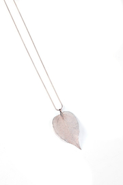 Gift Craft Leaf Necklace - Front cropped