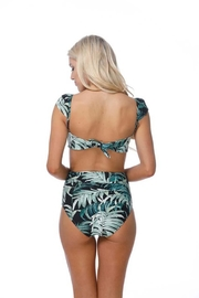 beach joy Leaf Print Bikini - Side cropped