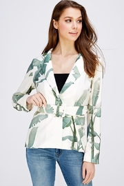 A Peach Leaf Print Blazer - Product Mini Image
