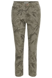 Tribal Leaf Print Jeans - Product Mini Image