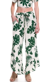 Lush Leaf Print Pants - Front cropped