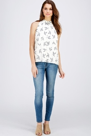 Gilli Leaf Print Top - Front full body