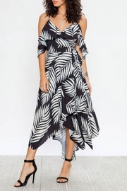 Flying Tomato Leaf Print Wrap-Dress - Product Mini Image