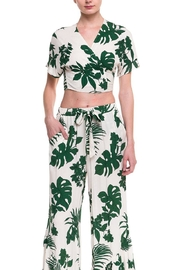 Lush Leaf Printed Top - Front cropped