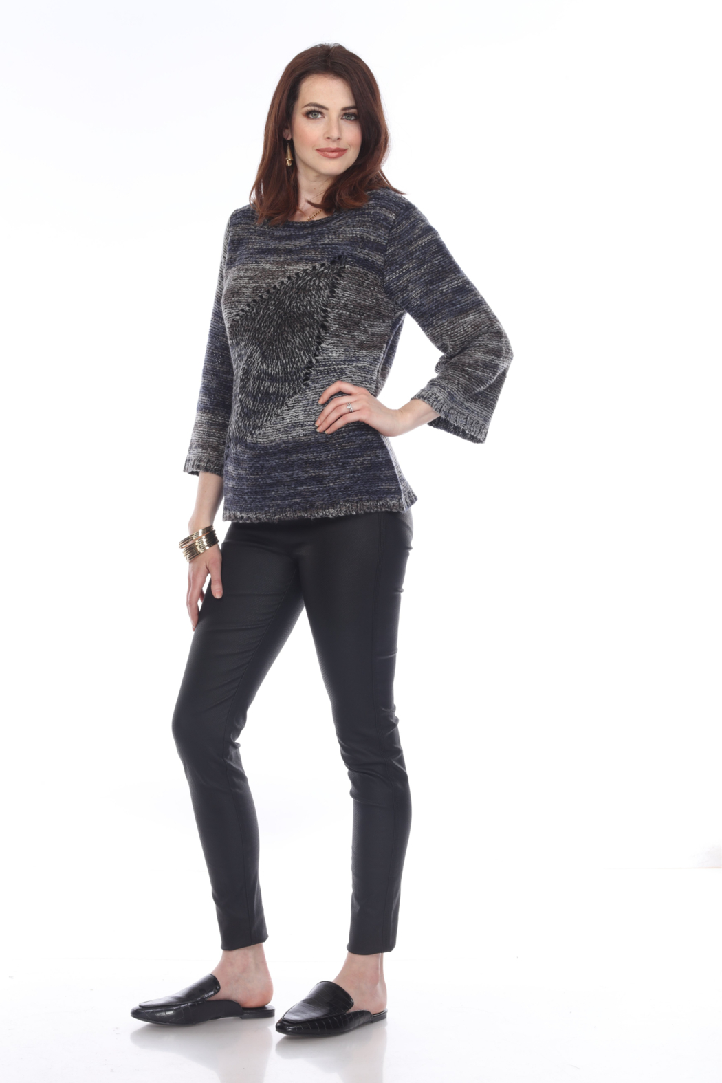 sisters Leaf Pullover Sweater - Side Cropped Image